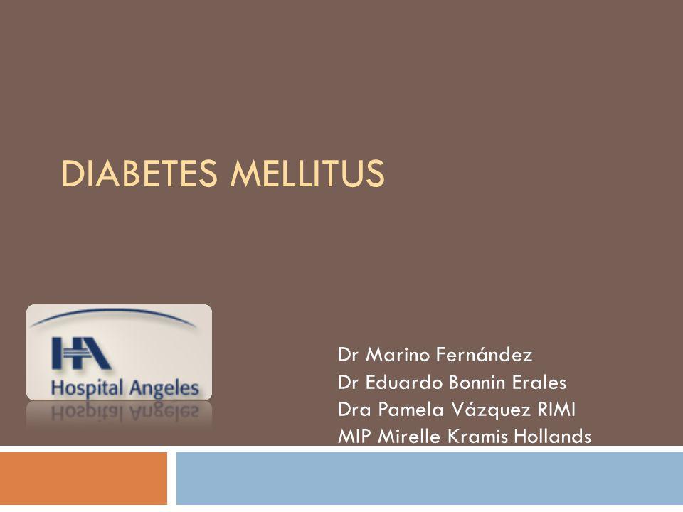 Autoanticuerpos de las células de los islotes Autoanticuerpos de insulina Autoanticuerpos de ácido glutámico descarboxilasa Autoanticuerpos de tirosin- fosfatasa IA-2 y IA2B Los marcadores de la destrucción de células β incluye: AACE Medical guidelines for clinical practice for the management of Diabetes Mellitus, Endocrine Practice, May/June 2003, Vol 13: