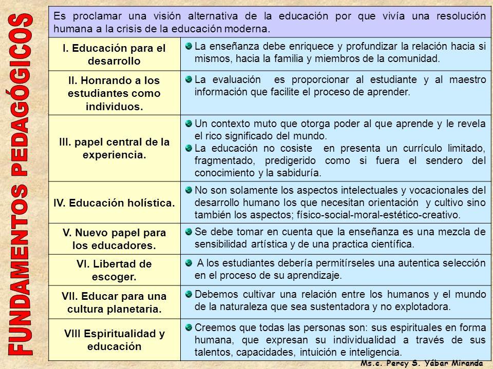 MONTESORI (18701952) El alumnos es un participante activo en el proceso enseñanza aprendizaje. La enseñanza aprendizaje en grupo e individualizado se