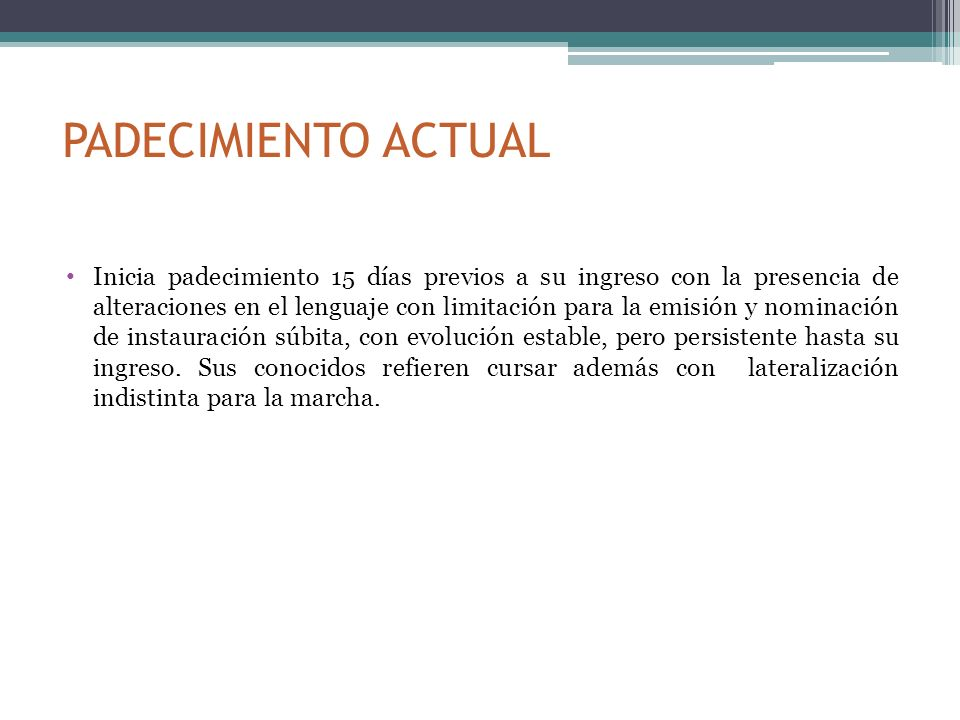 Trastornos de la expresión verbal Reducción b) Reducción nominal.