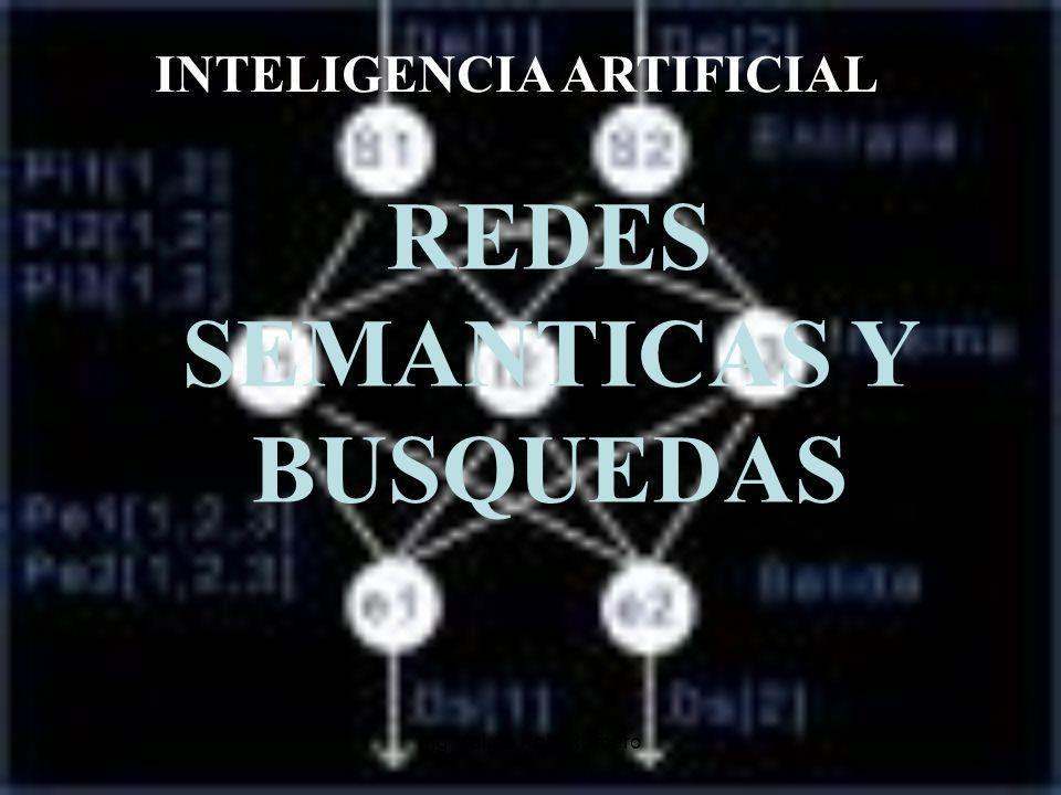 Ing. Jaime Polo Romero1 INTELIGENCIA ARTIFICIAL REDES SEMANTICAS Y BUSQUEDAS