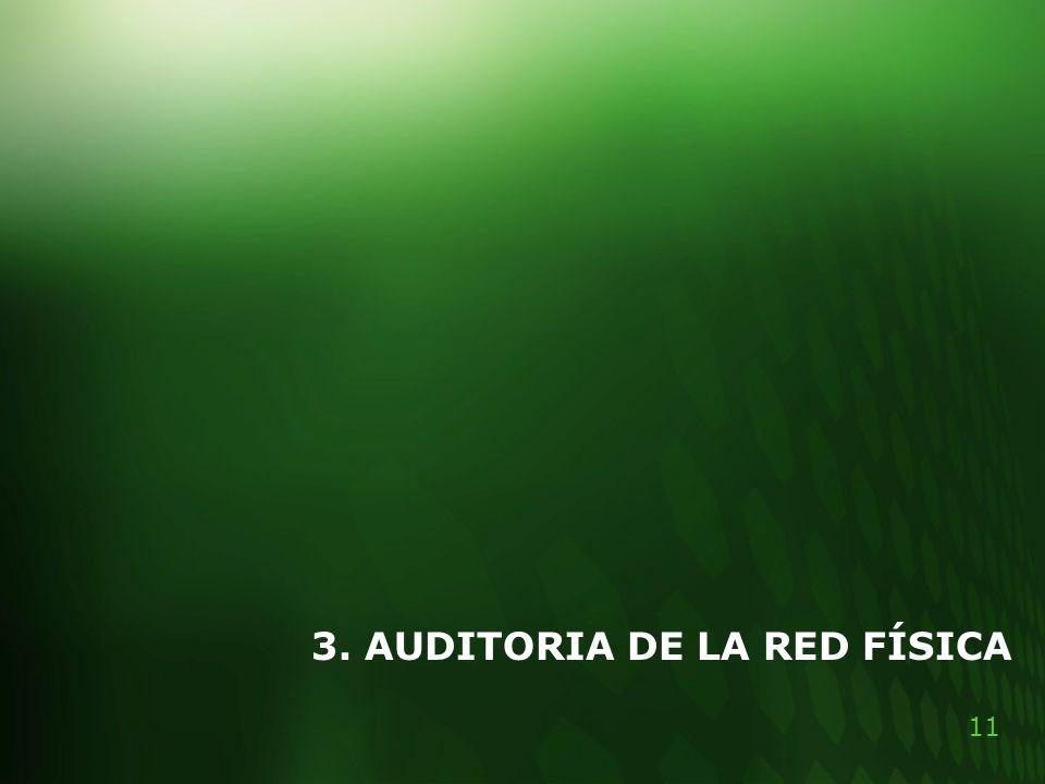 11 3. AUDITORIA DE LA RED FÍSICA