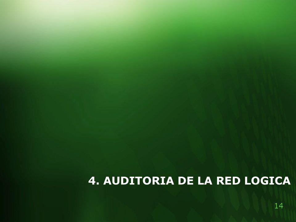 14 4. AUDITORIA DE LA RED LOGICA
