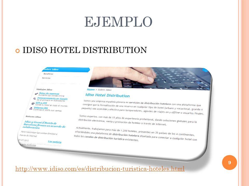 EJEMPLO IDISO HOTEL DISTRIBUTION 9 http://www.idiso.com/es/distribucion-turistica-hoteles.html