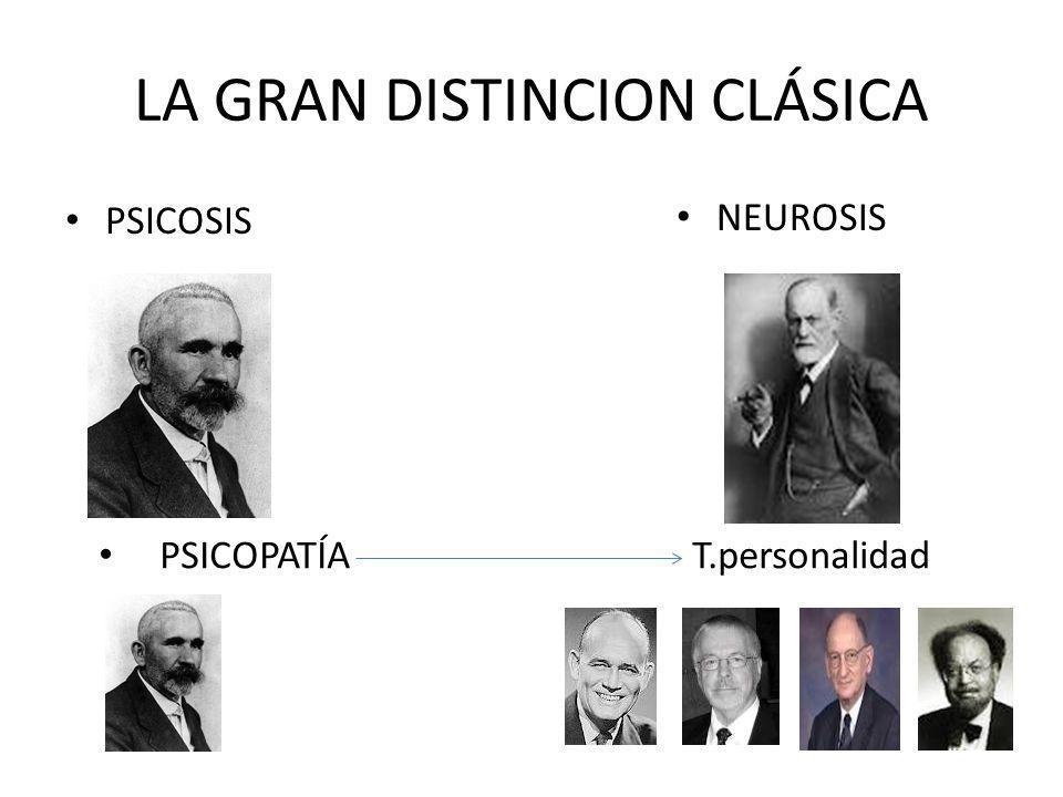 LA GRAN DISTINCION CLÁSICA PSICOSIS NEUROSIS PSICOPATÍA T.personalidad
