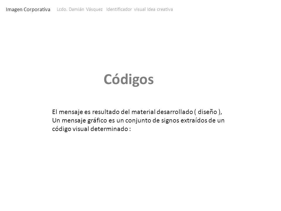 Imagen Corporativa Lcdo. Damián Vásquez Identificador visual Idea creativa El mensaje es resultado del material desarrollado ( diseño ), Un mensaje gr