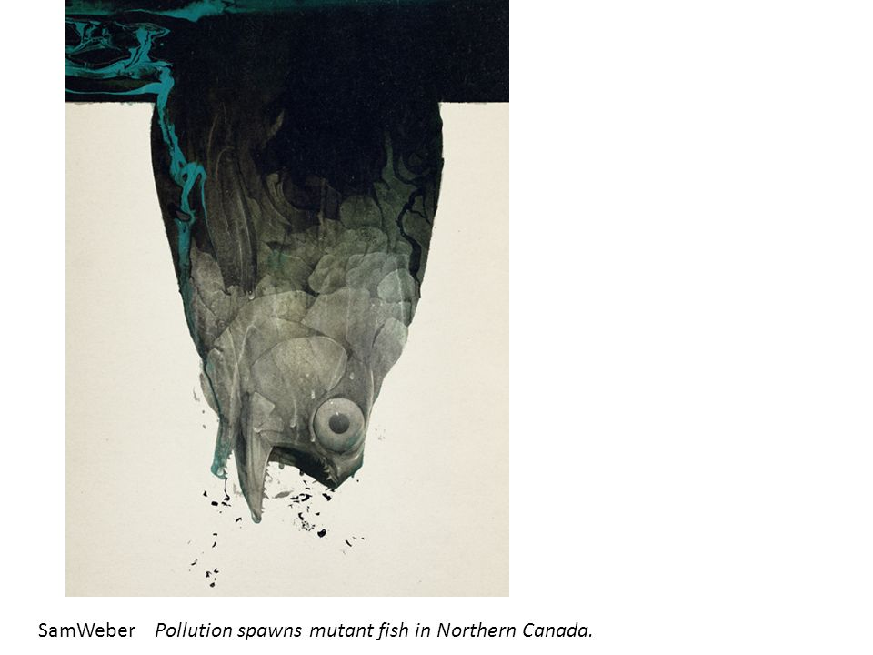 SamWeberPollution spawns mutant fish in Northern Canada.