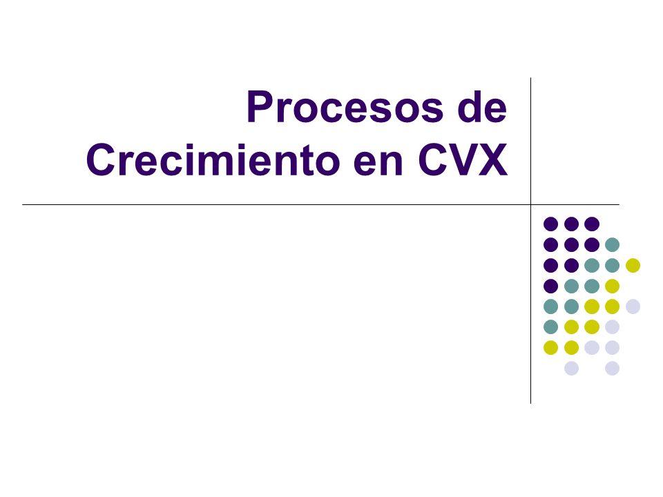 Procesos de Crecimiento en CVX