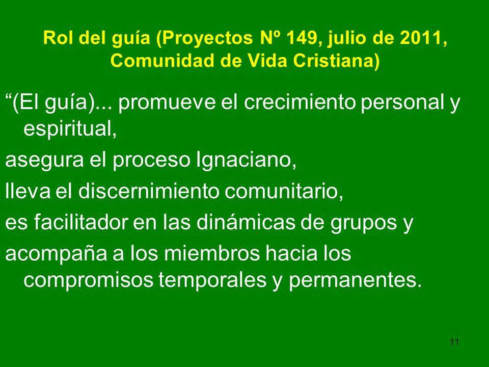 11 Rol del guía (Proyectos Nº 149, julio de 2011, Comunidad de Vida Cristiana) (El guía)...