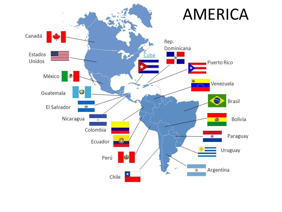Chile Ecuador Colombia Nicaragua El Salvador Guatemala México Estados Unidos Canadá Cuba Rep. Dominicana Puerto Rico Venezuela Perú Argentina Uruguay