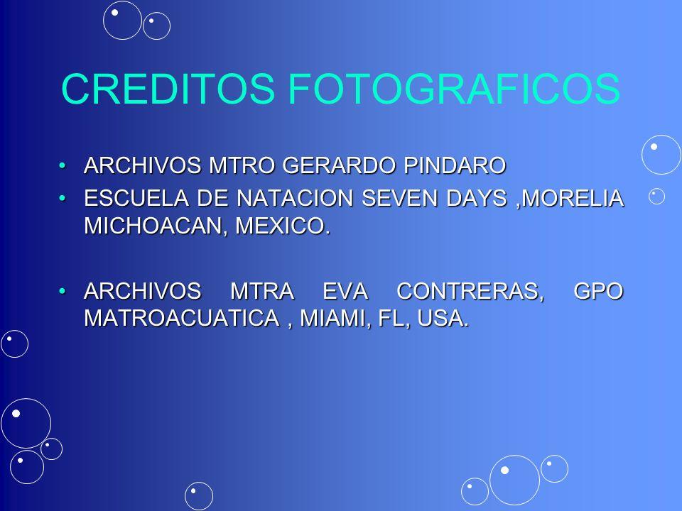 CREDITOS FOTOGRAFICOS ARCHIVOS MTRO GERARDO PINDAROARCHIVOS MTRO GERARDO PINDARO ESCUELA DE NATACION SEVEN DAYS,MORELIA MICHOACAN, MEXICO.ESCUELA DE N