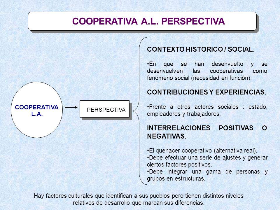 PROPUESTA DE ANALISIS COOP A.L.1.COOPERATIVISMOS EVOLUTIVOS O INVOLUTIVOS.