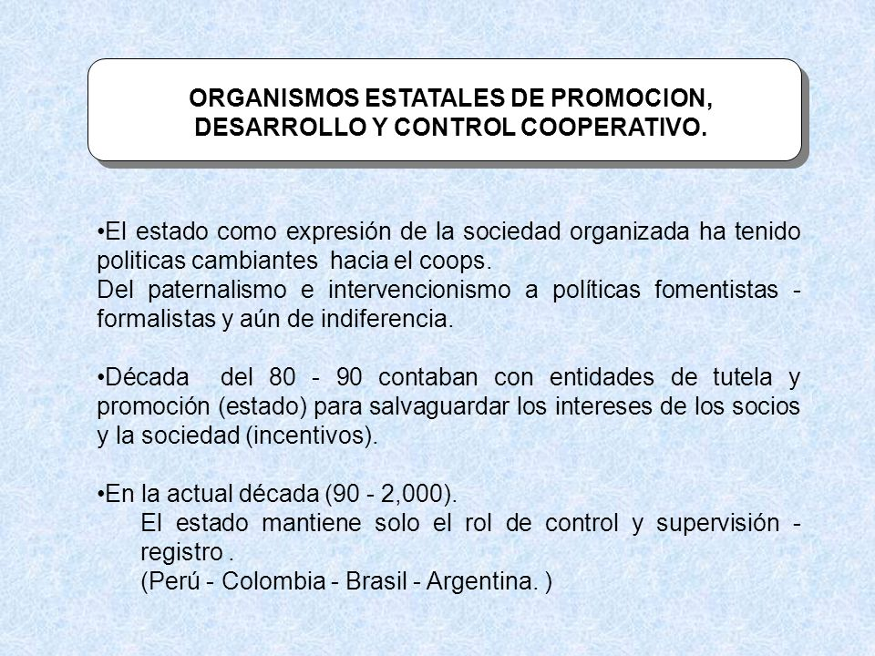 CONTRIBUCIONES DE LAS COOPERATIVAS AL DESARROLLO A.L.
