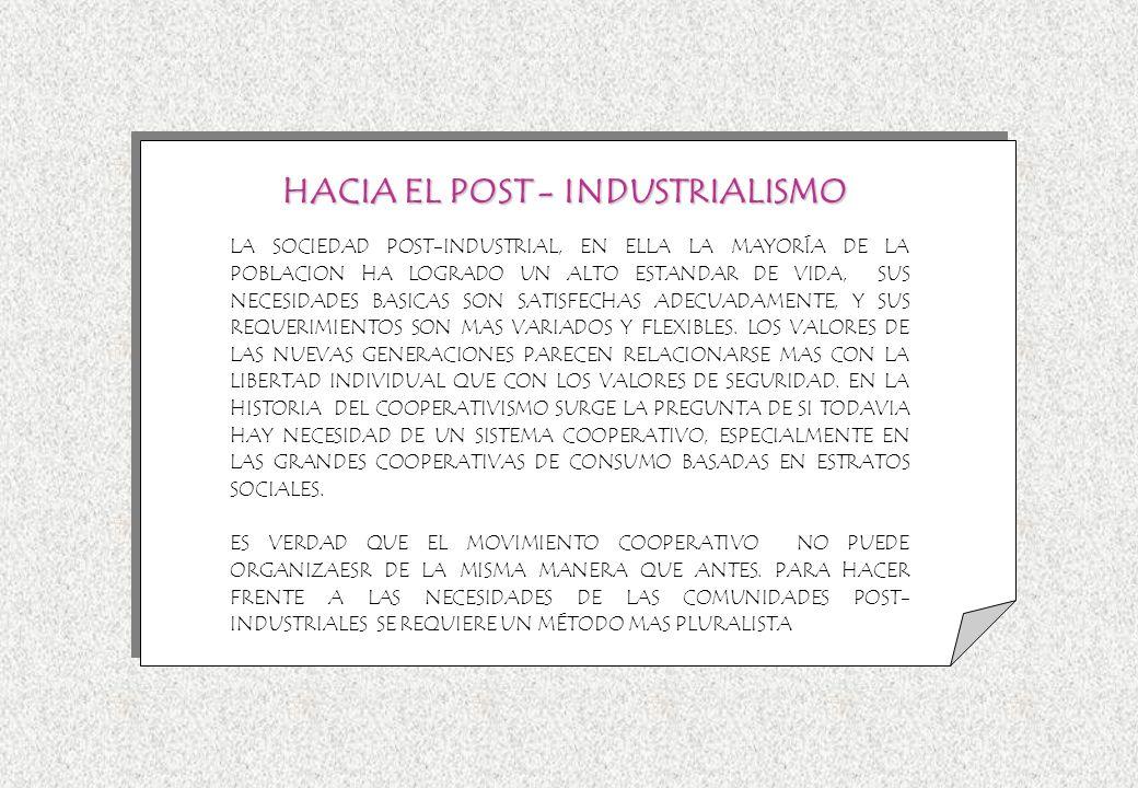 EN LA MAYOR PARTE DEL MUNDO, SE HAN FORMADO NUMEROSAS COOPERATIVAS, USUALMENTE FUERA DEL MARCO DE LAS ORGANIZACIONES COOPERATIVAS ESTABLECIDAS.