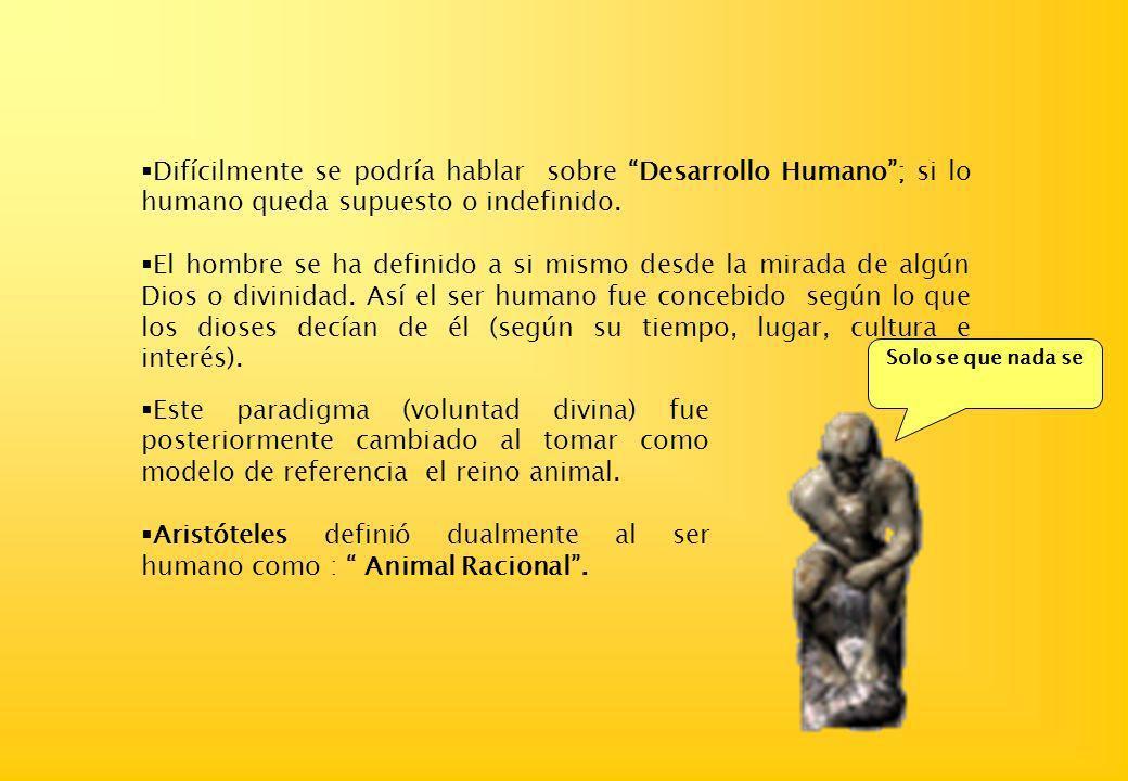 LA DEFINICION DE LO HUMANO Lic. Walter CHOQUEHUANCA SOTO wchoquehuanca@terra.com.pe