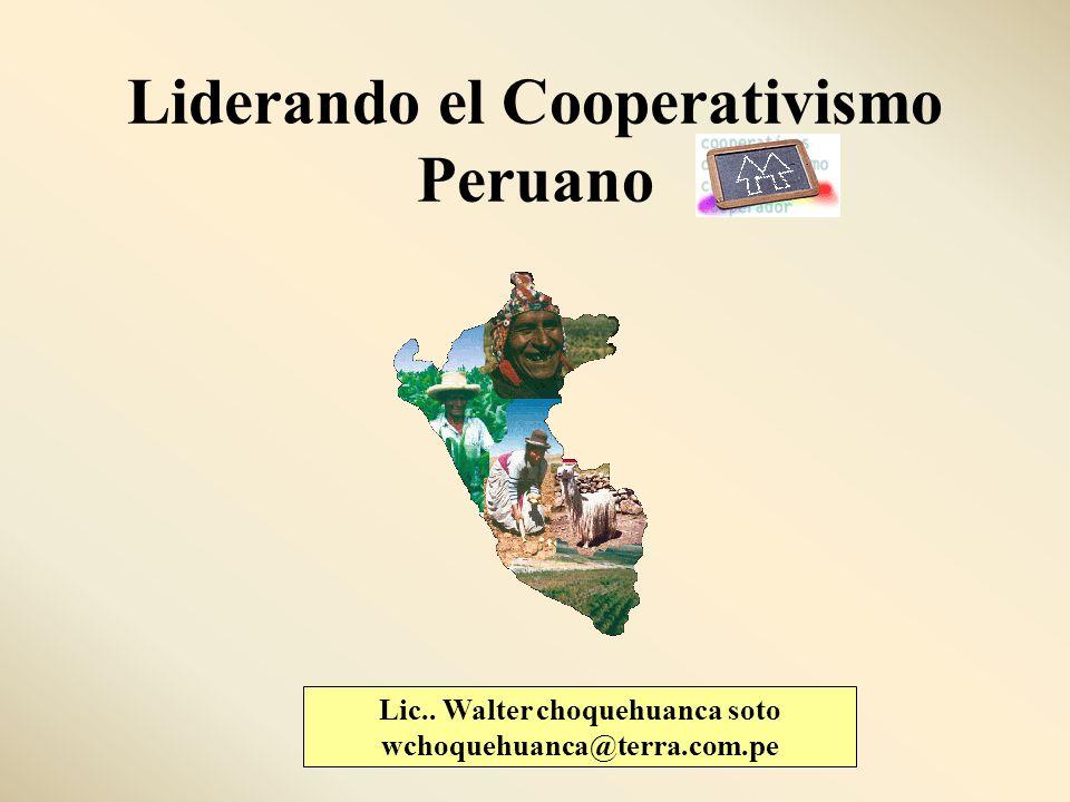 Liderando el Cooperativismo Peruano Lic.. Walter choquehuanca soto wchoquehuanca@terra.com.pe