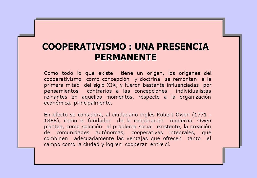 Como todo lo que existe tiene un origen, los orígenes del cooperativismo como concepción y doctrina se remontan a la primera mitad del siglo XIX, y fueron bastante influenciadas por pensamientos contrarios a las concepciones individualistas reinantes en aquellos momentos, respecto a la organización económica, principalmente.