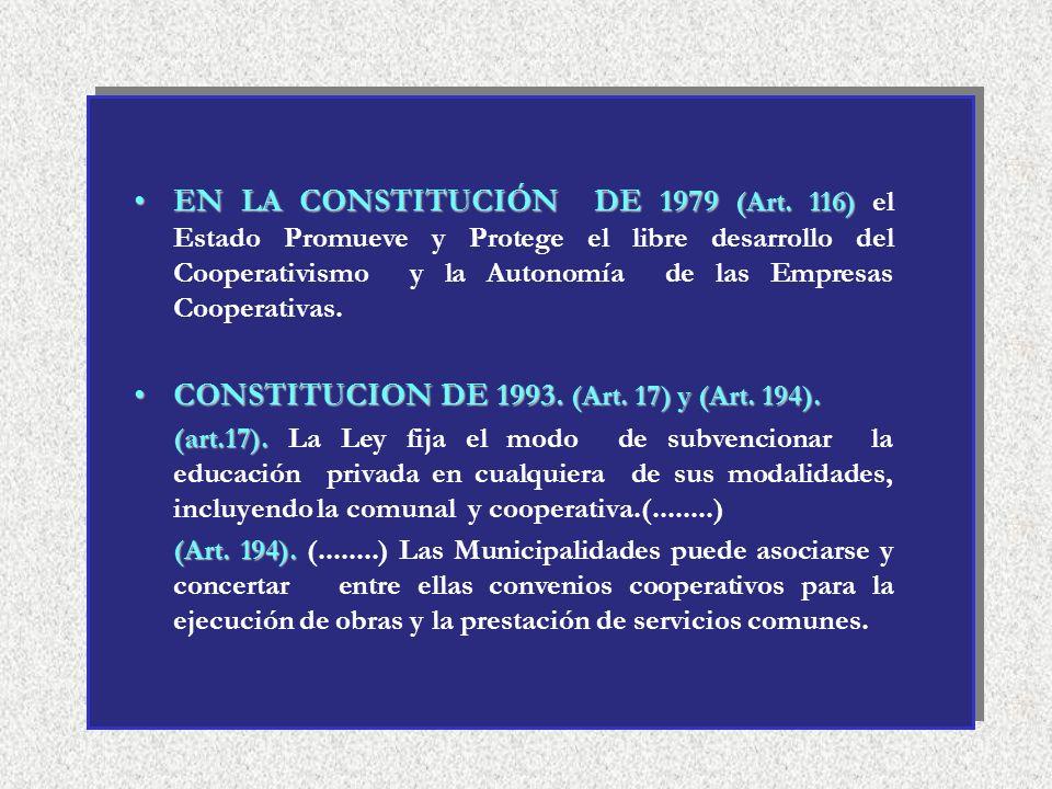 PRINCIPIOS COOPERATIVOS EN EL PERU ANTECEDENTES : El D.S. 138 -(08-03-44) : Incorpora los principios universales). El D.S. 13-11-61 (Cooperativas de V