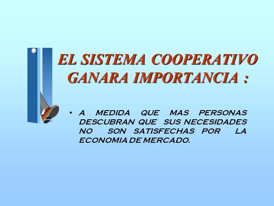 COOPERATIVISMO Y SOCIEDAD ACTUAL (HOMBRE CONSUMIDOR). INCIDENCIA DEL COOPERATIVISMO COMO MOVIMIENTO Y SISTEMA EN UN PAIS. ¿ES EL COOPERATIVISMO SOLO U