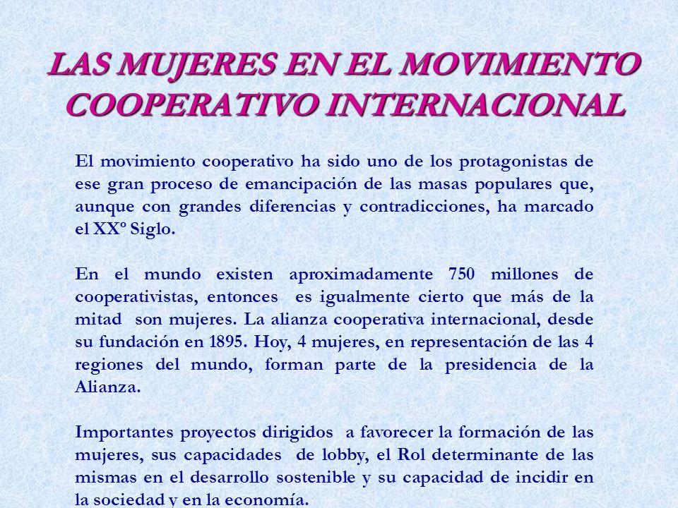 EL ROL DE LA MUJER EN EL COOPERATIVISMO LIC. WALTER CHOQUEHUANCA SOTO