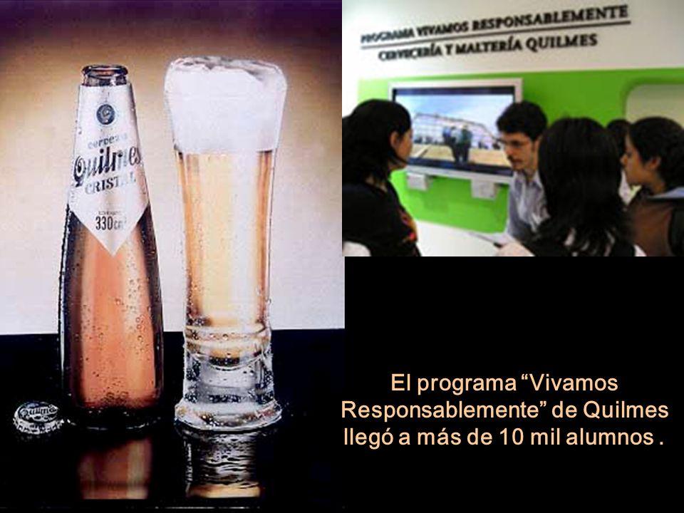 El programa Vivamos Responsablemente de Quilmes llegó a más de 10 mil alumnos.