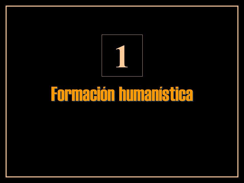 Formación humanística 1