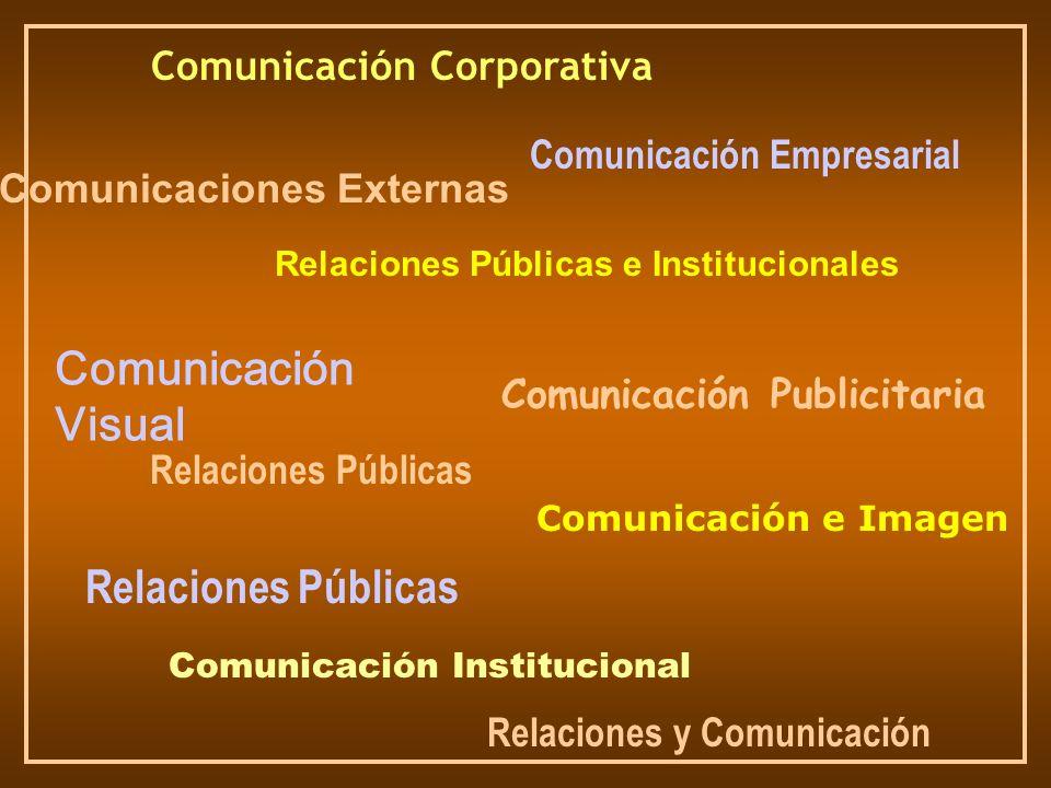 Comunicación Corporativa Comunicación Institucional Comunicación Visual Relaciones Públicas e Institucionales Relaciones Públicas Comunicación e Image