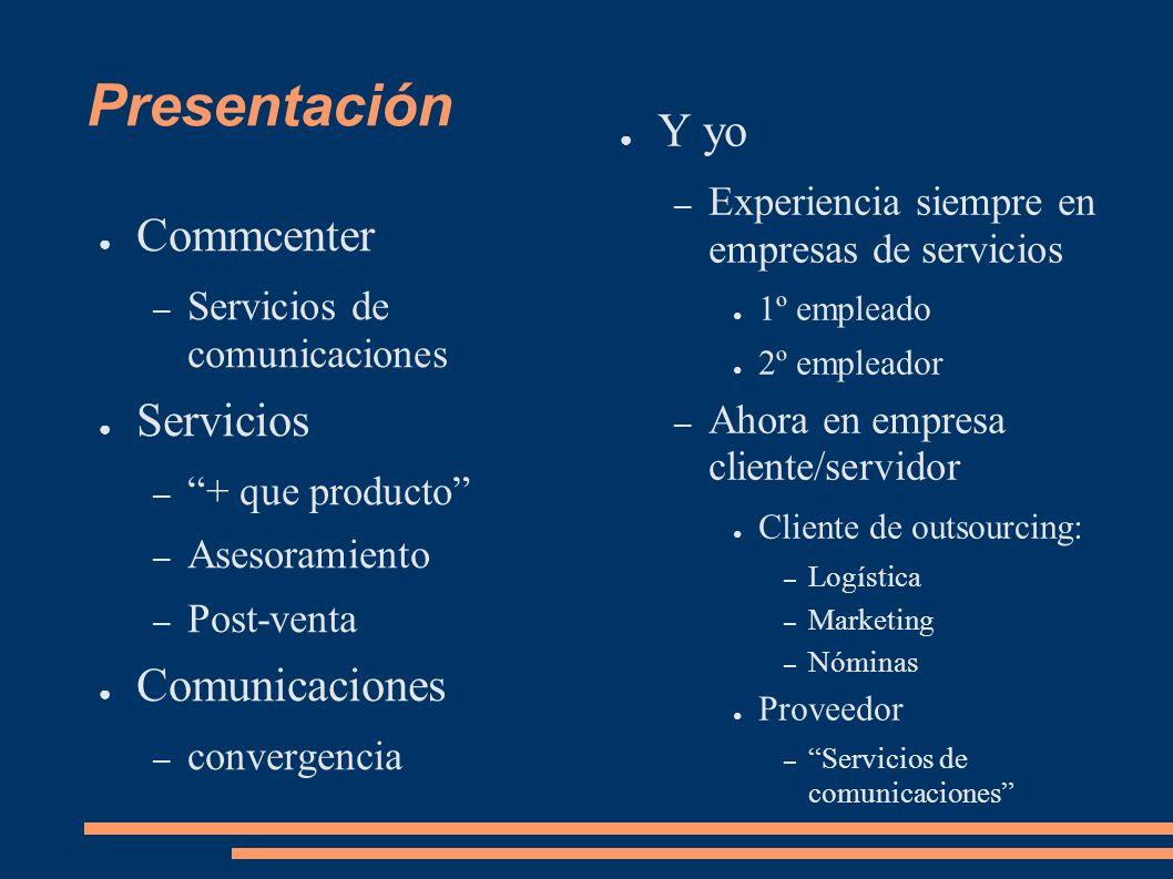 Esquema 1)Presentación 2)Outsourcing 3)Experiencias 4)ITIL 5)Outsourcing, ITIL y tú