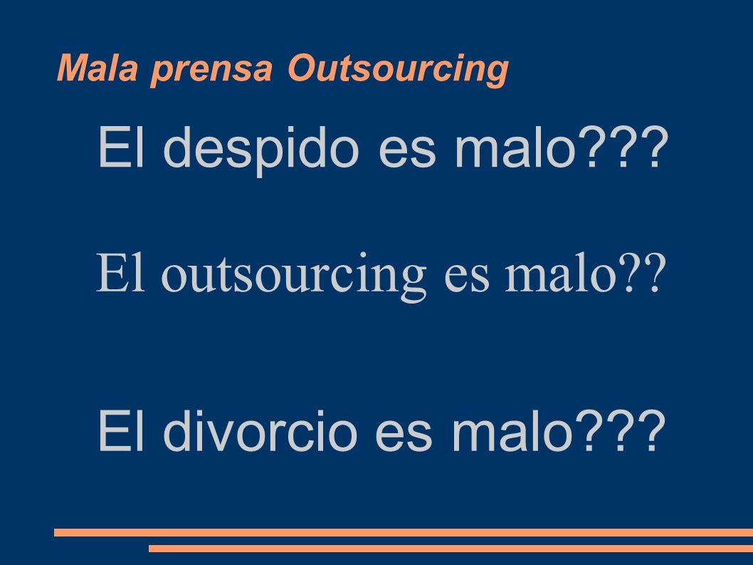 Situación presente Outsourcing una tendencia imparable – Mercado de outsourcing de TI crecimientos de 2 cifras desde el 2000 – Las TI son uno de las p