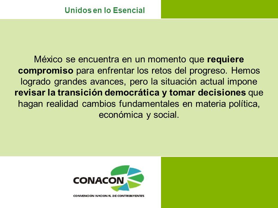 México se encuentra en un momento que requiere compromiso para enfrentar los retos del progreso.