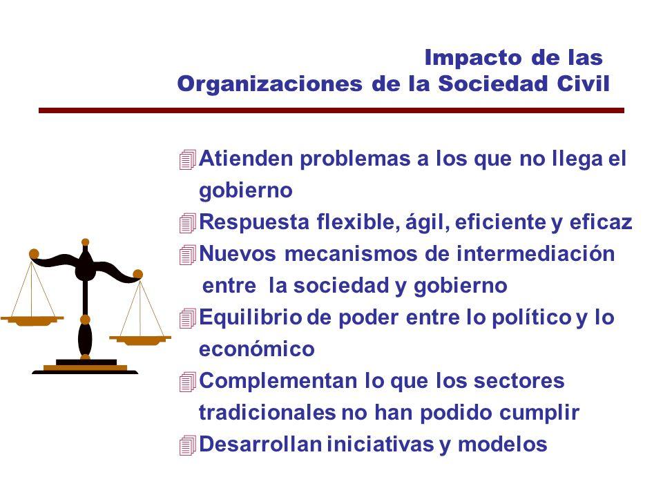 Características de las Organizaciones del Tercer Sector Formales, Establecidas conforme a derecho Privadas No distribuyen remanentes Gobernadas, por s