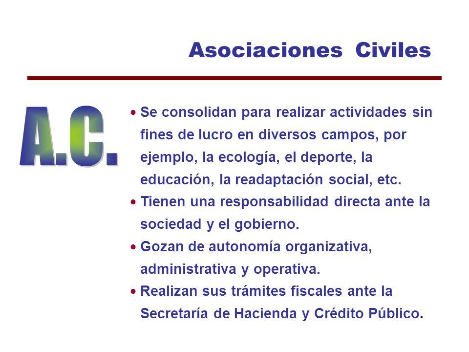 Clasificación de las Organizaciones del Tercer Sector 4 Asociaciones Civiles 4 Instituciones de Asistencia Privada 4Sociedades Civiles 4 Asistencia 4