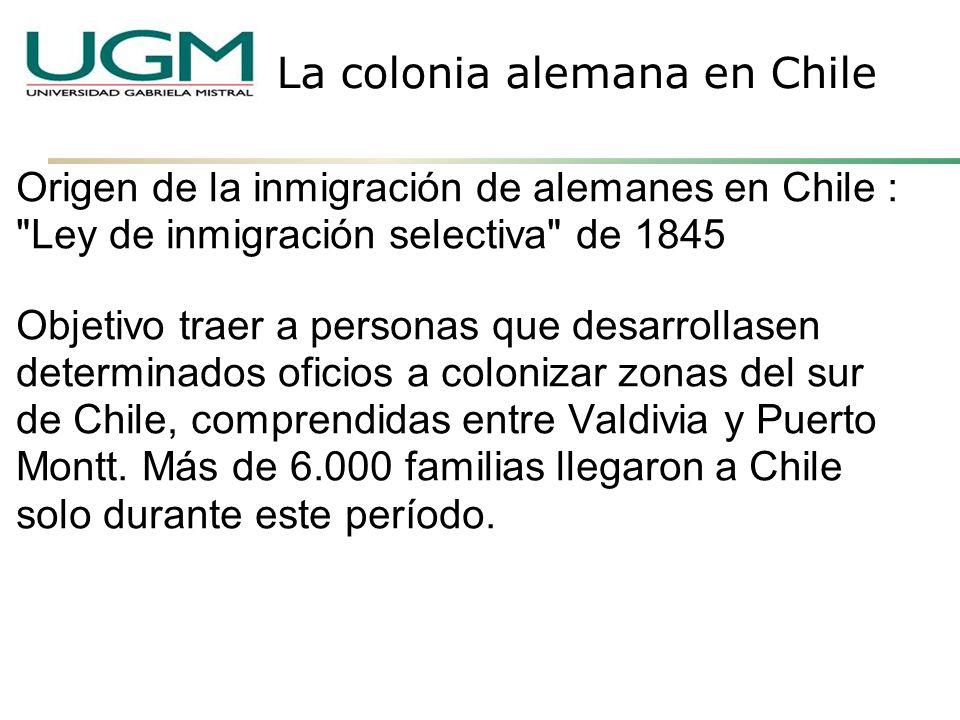 Origen de la inmigración de alemanes en Chile :
