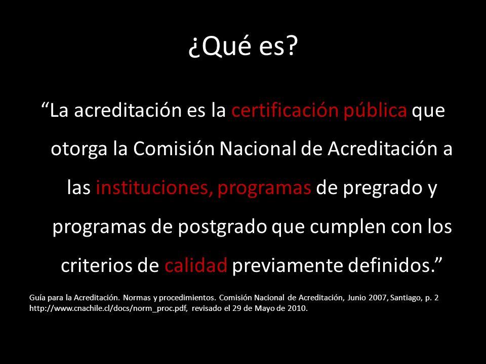 Características del mecanismo actual de acreditación de programas y carreras Voluntario, excepto Educación y Medicina, esto con el objetivo de asegurar la calidad.