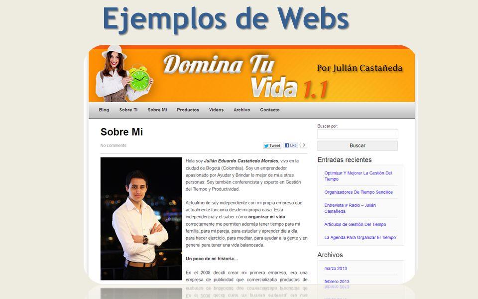 Ejemplos de Webs