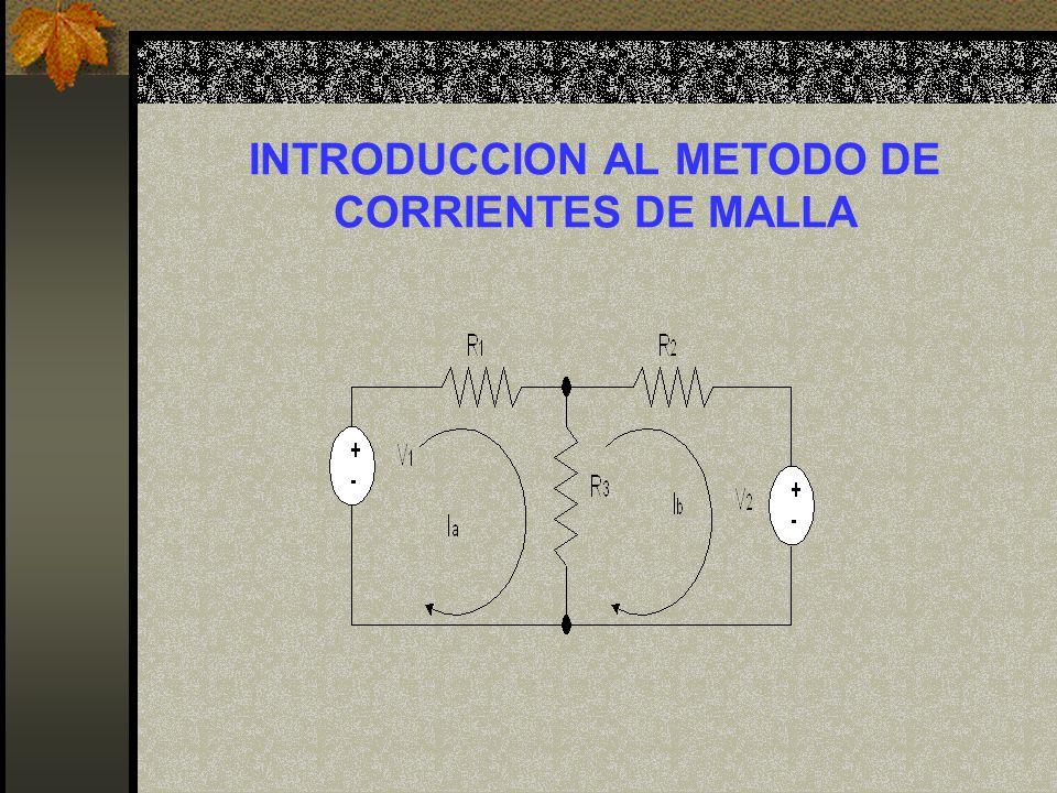 INTRODUCCION AL METODO DE CORRIENTES DE MALLA