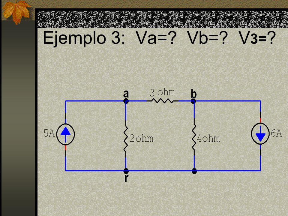 Ejemplo 3: Va= Vb= V 3=