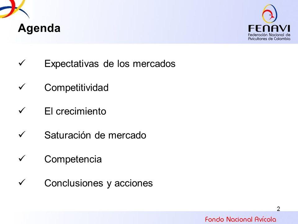 2 Agenda Expectativas de los mercados Competitividad El crecimiento Saturación de mercado Competencia Conclusiones y acciones