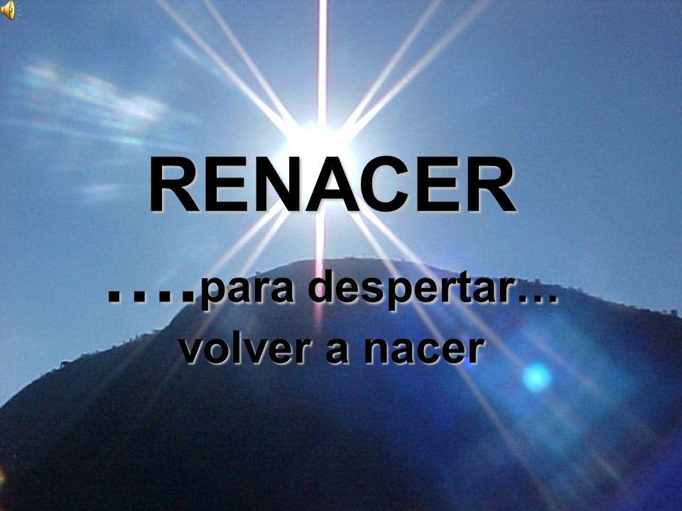 RENACER …. para despertar… volver a nacer