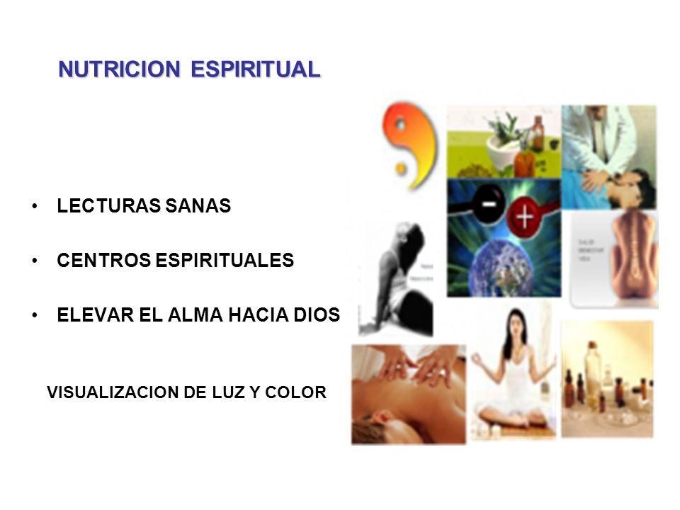 LECTURAS SANAS CENTROS ESPIRITUALES ELEVAR EL ALMA HACIA DIOS NUTRICION ESPIRITUAL VISUALIZACION DE LUZ Y COLOR