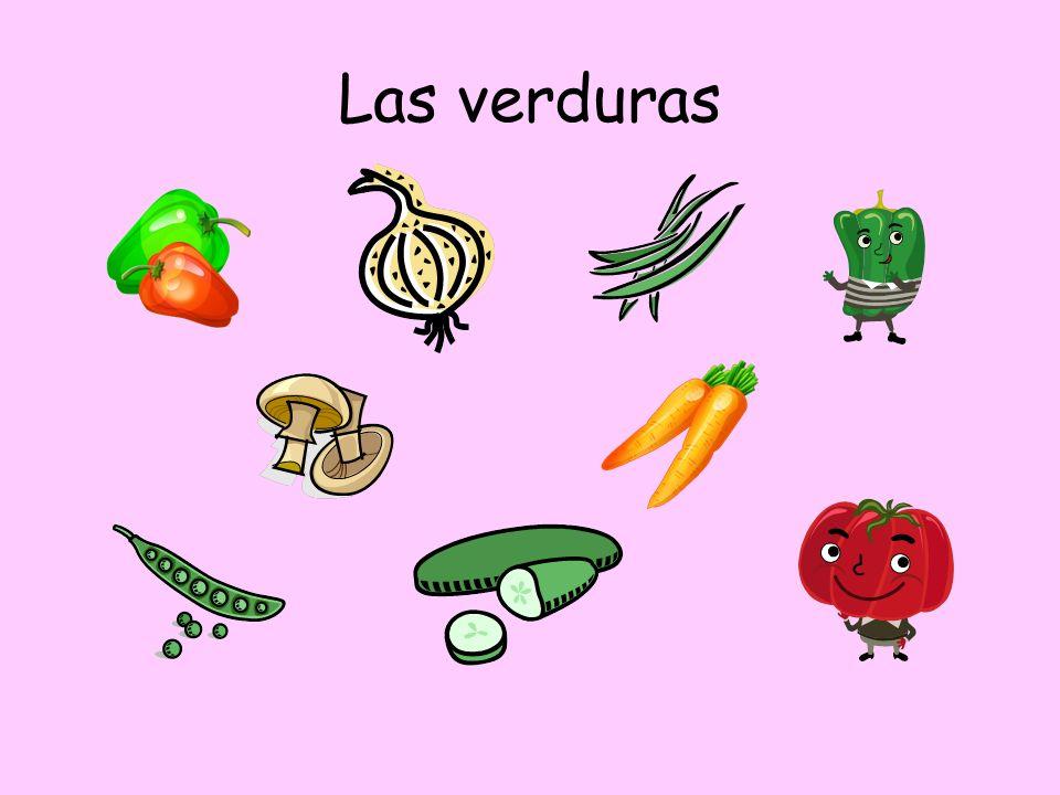 actividad 2 Fill in the grid Frutas (Fruits) Verduras y legumbres BebidasOtros alimentos