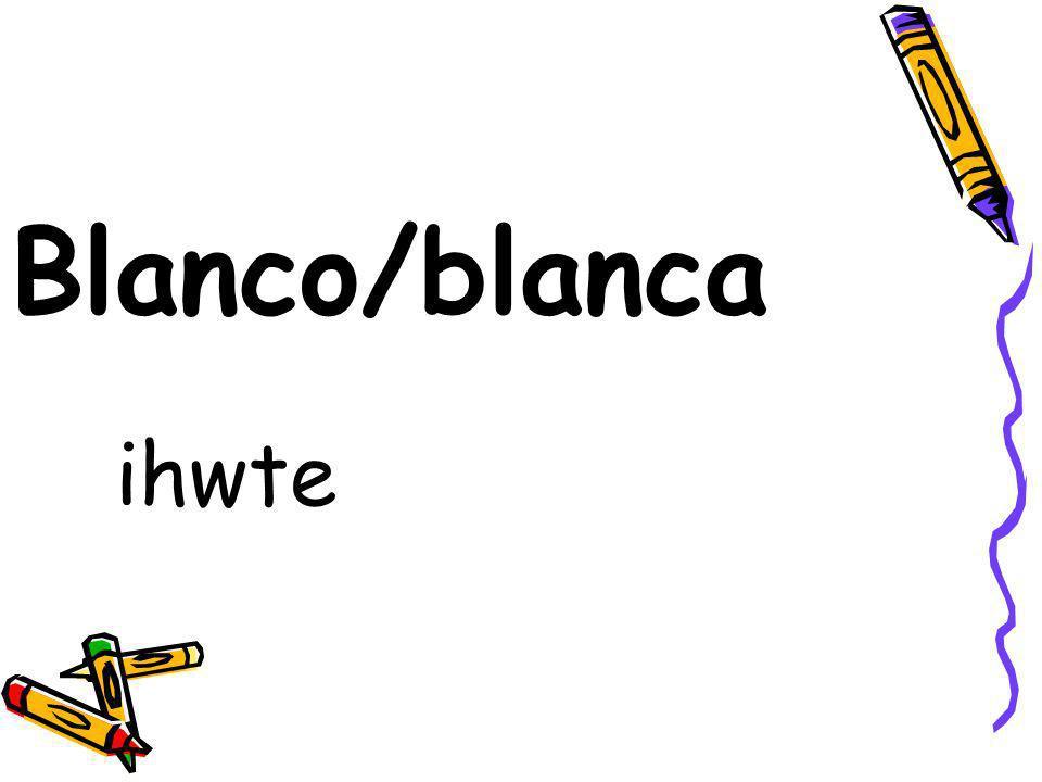 Blanco/blanca ihwte