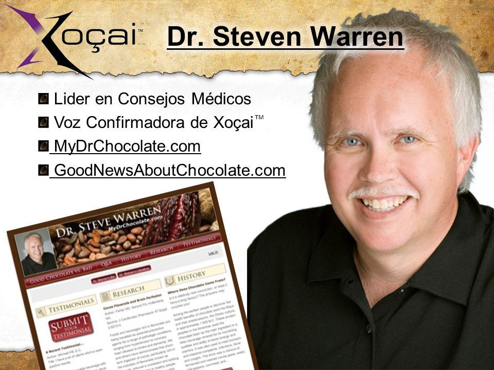 Lider en Consejos Médicos Voz Confirmadora de Xoçai MyDrChocolate.com GoodNewsAboutChocolate.com