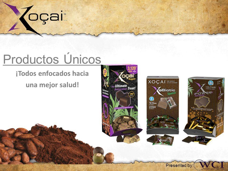 Productos Únicos ¡Todos enfocados hacia una mejor salud! Presented by: