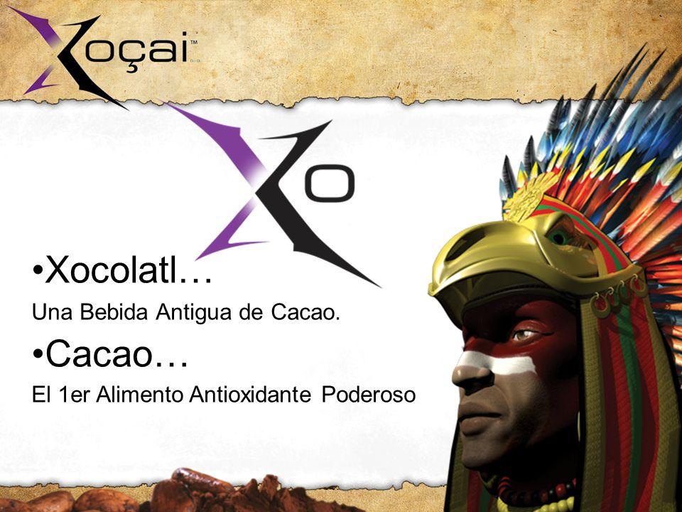 Xocolatl… Una Bebida Antigua de Cacao. Cacao… El 1er Alimento Antioxidante Poderoso