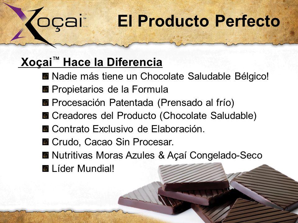El Producto Perfecto Xoçai Hace la Diferencia: Nadie más tiene un Chocolate Saludable Bélgico! Propietarios de la Formula Procesación Patentada (Prens