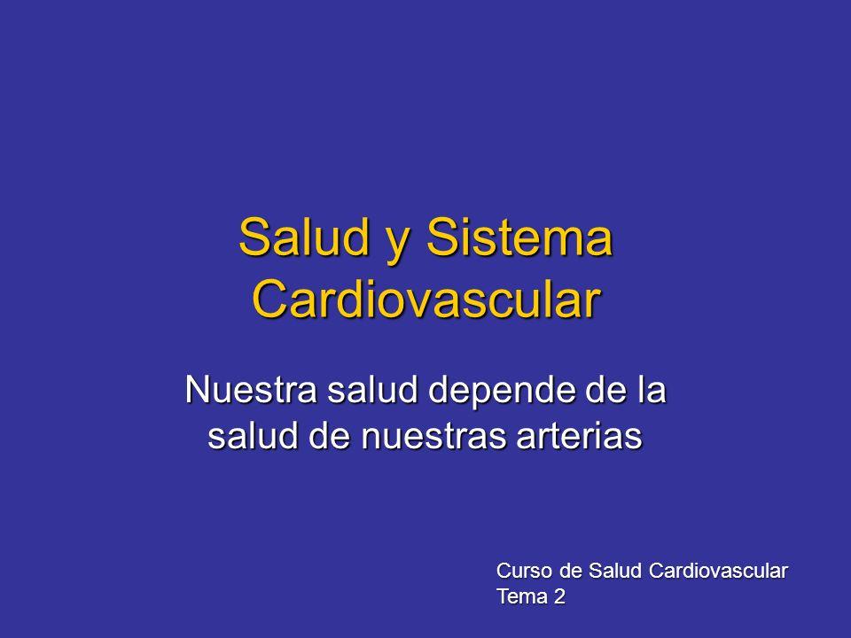 Salud y Sistema Cardiovascular Nuestra salud depende de la salud de nuestras arterias Curso de Salud Cardiovascular Tema 2