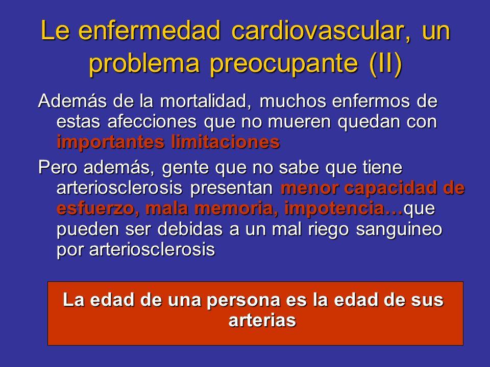 Le enfermedad cardiovascular, un problema preocupante (II) Además de la mortalidad, muchos enfermos de estas afecciones que no mueren quedan con impor