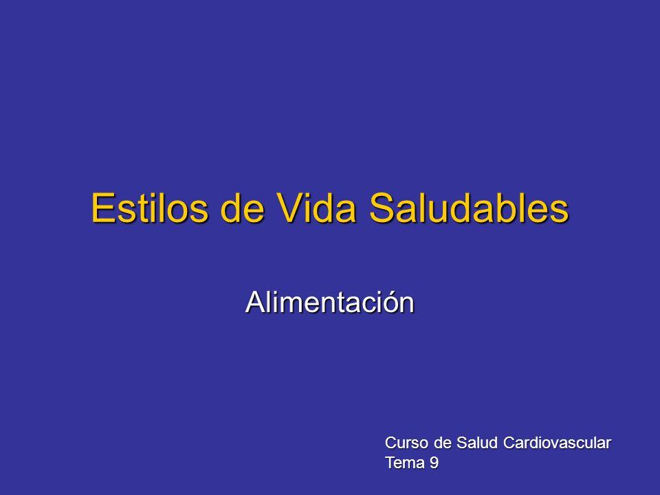 Estilos de Vida Saludables Alimentación Curso de Salud Cardiovascular Tema 9