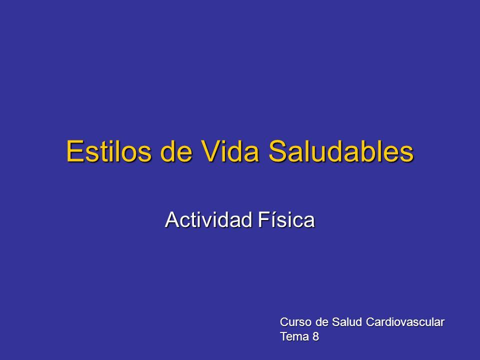 Estilos de Vida Saludables Actividad Física Curso de Salud Cardiovascular Tema 8