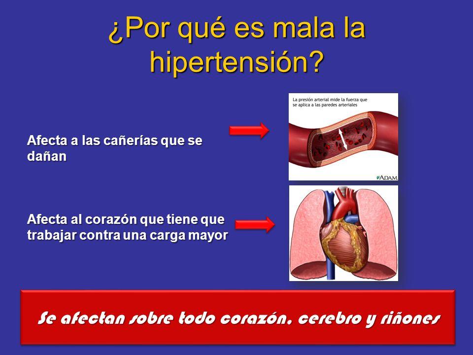 Consecuencias: Infarto de miocardio Accidente cerebrovascular Insuficiencia cardiaca Insuficiencia renal